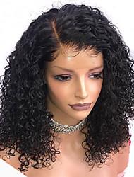 Недорогие -Remy Полностью ленточные Парик Бразильские волосы Волнистые Парик Стрижка боб 130% С детскими волосами / Природные волосы / Парик в афро-американском стиле Нейтральный Жен. Средняя длина
