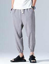 abordables -Hombre Tallas Grandes Algodón Pantalones Harén Pantalones - Un Color