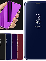 cheap -Case For Xiaomi Mi 8 with Stand / Mirror Full Body Cases Solid Colored Hard PU Leather for Xiaomi Mi 8