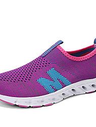 abordables -Mujer Zapatos Punto Primavera verano Confort Zapatos de taco bajo y Slip-On Tacón Plano Morado / Fucsia / Gris claro / Fiesta y Noche