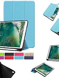 Недорогие -Кейс для Назначение Apple iPad Mini 5 / iPad New Air (2019) / iPad Air со стендом / Магнитный Чехол Однотонный Твердый ТПУ / iPad Pro 10.5