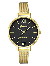 cheap -Geneva Women's Dress Watch / Wrist Watch Chinese New Design / Casual Watch / Cool Alloy Band Casual / Fashion Black / Gold / Rose Gold / One Year