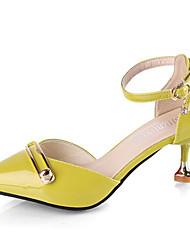 baratos -Mulheres Sapatos Couro Ecológico Verão D'Orsay Saltos Salto Agulha Dedo Apontado Bege / Amarelo / Rosa claro