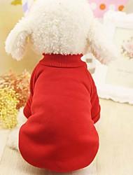 Недорогие -Собаки / Коты / Маленькие зверьки Плащи / Толстовка Одежда для собак Однотонный / другое Синий / Розовый / Черный Другие материалы / Сукно Костюм Для домашних животных Мужской