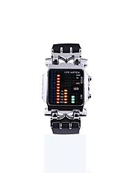 Недорогие -Муж. электронные часы Цифровой Защита от влаги Календарь силиконовый Группа Цифровой Мода Черный - Черный