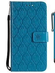 baratos -Capinha Para Sony Xperia XZ2 Compact / Xperia XZ2 Carteira / Porta-Cartão / Com Suporte Capa Proteção Completa Flor Rígida PU Leather para Xperia XZ2 / Xperia XZ2 Compact / Xperia XZ1 Compact