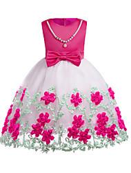 abordables -Niños / Bebé Chica Floral Manga Corta Vestido
