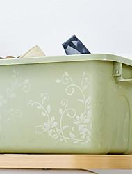 abordables -CLORURO DE POLIVINILO / PÁGINAS Rectángulo Nuevo diseño / Cool Casa Organización, 1pc Cajas de Almacenamiento