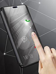 billiga -fodral Till Samsung Galaxy J8 / J6 med stativ / Plätering / Spegel Fodral Enfärgad Hårt PU läder för J8 / J7 Duo / J6