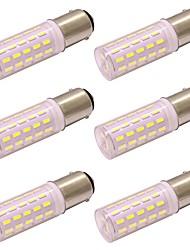 Недорогие -4w dimmable ceramice g4 двуполюсная светодиодная лампа 63 светодиода 4014 smd dc / ac 12 - 24v холодный / теплый белый (6 шт)