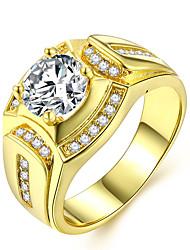 abordables -Couple Effets superposés Stylé Bague - Imitation Diamant Précieux Luxe, Classique, Mode 7 / 8 / 9 / 10 / 11 Or Pour Quotidien Rendez-vous