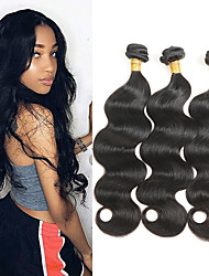 baratos -3 pacotes Cabelo Peruviano Onda de Corpo Cabelo Humano Extensor / Tecer 8-30 polegada Tramas de cabelo humano Melhor qualidade / novo / Nova chegada Extensões de cabelo humano Mulheres
