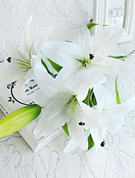 cheap -Artificial Flowers 1 Branch Single Stylish Lilies Tabletop Flower
