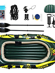 cheap -2 Persons Inflatable Boat Set with Hand Air Pump, Air Pad, French Oars PVC Portable folding Fishing / Boating / Water Sports 182*120*21 cm