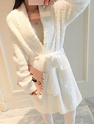 Недорогие -Высшее качество Банный халат, Однотонный 100% полиэстер Ванная комната 1 pcs