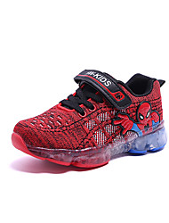 cheap -Girls' Shoes Mesh / PU(Polyurethane) Spring & Summer Comfort Athletic Shoes Walking Shoes Magic Tape / LED for Kids Black / Red / Blue