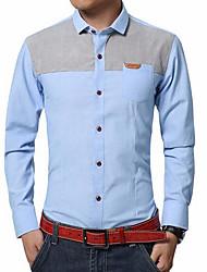 cheap -Men's Shirt - Color Block Hooded / Long Sleeve