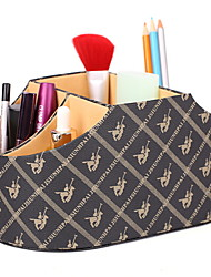 abordables -Cuero de PU Rectángulo Bonito / Cool Casa Organización, 1pc Almacenamiento de Maquillaje
