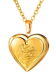 cheap -Women's Long Pendant Necklace - Locket, Heart Romantic, Fashion Heart Gold, Silver 55 cm Necklace Jewelry 1pc For Gift, Daily