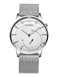 abordables -CADISEN Hombre Reloj de Pulsera Chino Resistente al Agua / Reloj Casual Acero Inoxidable Banda Moda / Minimalista Blanco / Dos año / Sony SR626SW + CR2025