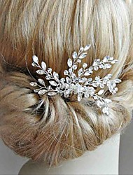 cheap -Alloy Headdress with Crystals / Rhinestones 1 Piece Wedding / Special Occasion Headpiece