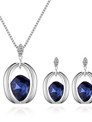 cheap -Women's Stylish Jewelry Set - European, Fashion, Elegant Include Necklace / Earrings Purple / Red / Blue For Daily / Evening Party