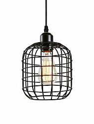abordables -loft vintage en métal noir cage pendentif mini lumières salon salle à manger couloir café bars luminaire peint finition