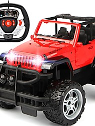 abordables -Coche de radiocontrol  686A-1 5 Canales 2.4G Coche / Off Road Car 1:14 Brushless Eléctrico 8 km/h KM / H