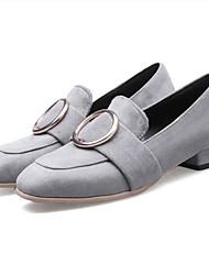 Недорогие -Жен. Обувь Искусственный мех Весна / Лето Удобная обувь Мокасины и Свитер На плоской подошве Закрытый мыс Черный / Серый / Розовый