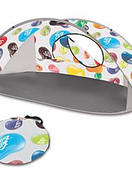 economico -2 persone Igloo da spiaggia Unico strato automatica Tenda da campeggio Una camera  All'aperto Antivento <1000 mm  per Spiaggia TPU 220*120*100 cm / Anti-pioggia