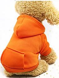 Недорогие -Собаки / Коты / Маленькие зверьки Толстовки / Толстовка / Инвентарь Одежда для собак Однотонный Кофейный / Красный / Розовый Хлопок Костюм Для домашних животных Мужской