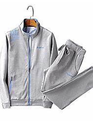 abordables -Hombre Sudadera / Activewear - Estampado, Un Color / Letra