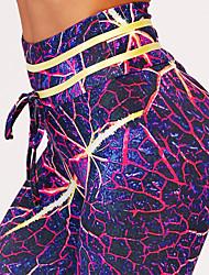 cheap -Women's Going out Sporty Legging - Galaxy / Color Block High Waist