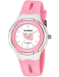 Недорогие -SYNOKE Муж. Жен. Спортивные часы электронные часы Японский Японский кварц Стеганная ПУ кожа Черный / Синий / Розовый 50 m Защита от влаги Очаровательный Крупный циферблат Аналоговый Мода -
