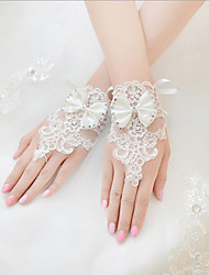 cheap -Spandex Fabric Wrist Length Glove Vintage Style / Gloves With Solid