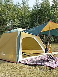 Недорогие -4 человека Семейный кемпинг-палатка На открытом воздухе С защитой от ветра, Дожденепроницаемый, Воздухопроницаемость Двухслойные зонты Автоматический Палатка 2000-3000 mm для