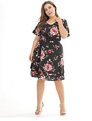 cheap -Sweet Curve Women's Going out / Beach Slim A Line Dress V Neck / Summer