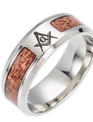 Недорогие -Муж. Толстая цепь Кольцо - Титановая сталь европейский Серебряный Назначение Повседневные