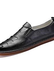 Недорогие -Муж. Официальная обувь Искусственная кожа / Полиуретан Лето Удобная обувь Мокасины и Свитер Черный / Красный / Хаки