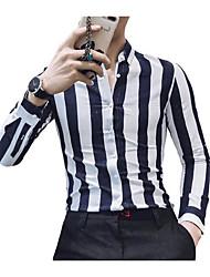 cheap -men's shirt - striped shirt collar
