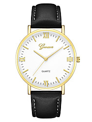 cheap -Geneva Women's Wrist Watch Quartz New Design Casual Watch Cool Leather Band Analog Casual Fashion Black / Brown - Black / Brown Black / White White / Brown One Year Battery Life