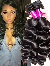 cheap -Indian Hair Wavy Natural Color Hair Weaves / Extension 3 Bundles 8-28 inch Human Hair Weaves Machine Made New Arrival / 100% Virgin Natural Black Human Hair Extensions Women's