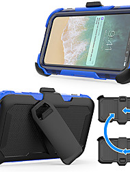 Недорогие -Кейс для Назначение Apple iPhone X / iPhone 8 Защита от удара / со стендом Кейс на заднюю панель броня Твердый ПК для iPhone X / iPhone 8 Pluss / iPhone 8
