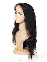 Недорогие -Натуральные волосы Полностью ленточные Парик Малазийские волосы Естественные кудри Парик Ассиметричная стрижка 130% / 150% / 180% Без запаха / Шерсть / Новое поступление Черный Жен. Средняя длина