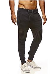 economico -Per uomo Essenziale / Moda città Chino / Pantaloni della tuta Pantaloni - Tinta unita