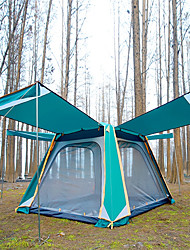 Недорогие -TANXIANZHE® 8 человек Семейный кемпинг-палатка На открытом воздухе С защитой от ветра, Дожденепроницаемый, Воздухопроницаемость Двухслойные зонты Автоматический Палатка 2000-3000 mm для