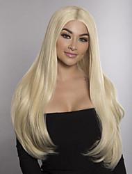 Недорогие -Не подвергавшиеся окрашиванию Полностью ленточные Парик Стрижка боб Свободная часть стиль Бразильские волосы Прямой Блондинка Парик 150% Плотность волос 12-24 дюймовый / с детскими волосами