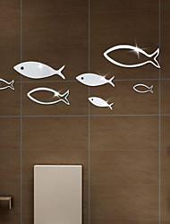 Недорогие -Декоративные наклейки на стены - Зеркальные стикеры / Наклейки для животных Животные Гостиная / Спальня / Ванная комната