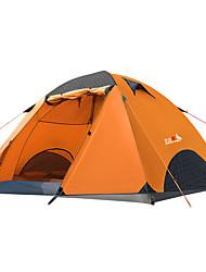 economico -BSwolf 2 persone Tenda da campeggio per famiglie Doppio strato Palo Tenda da campeggio Una camera  All'aperto Anti-pioggia >3000 mm  per Pesca Oxford 210*140*120 cm