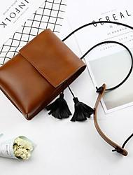 Недорогие -Жен. Мешки PU Мобильный телефон сумка С кисточками Темно-зеленый / Коричневый / Винный